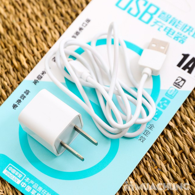 Combo dây & củ sạc iPhone 5/6 - Bảo hành 3 tháng - 1