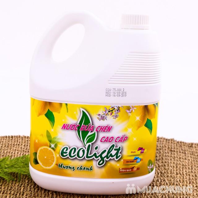 Nước rửa chén hương chanh Ecolight 3.6L + 1 chai - 8