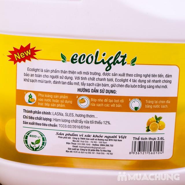 Nước rửa chén hương chanh Ecolight 3.6L + 1 chai - 10