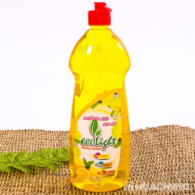 Nước rửa chén hương chanh Ecolight 3.6L + 1 chai - 13
