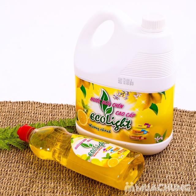 Nước rửa chén hương chanh Ecolight 3.6L + 1 chai - 14
