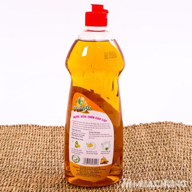 Nước rửa chén Ecolight hương quế 3.6L -Tặng 1 chai - 4