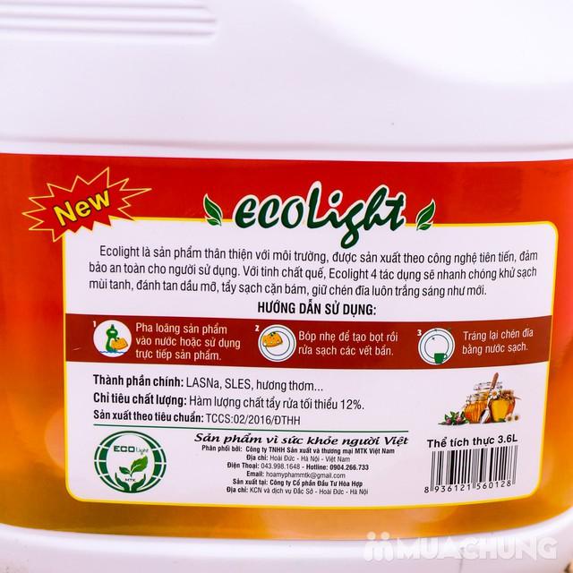 Nước rửa chén Ecolight hương quế 3.6L -Tặng 1 chai - 2