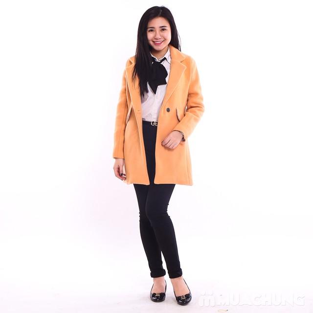 Áo khoác dạ dáng dài ấm áp