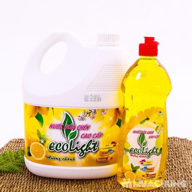 Nước rửa chén hương chanh Ecolight 3.6L + 1 chai - 7