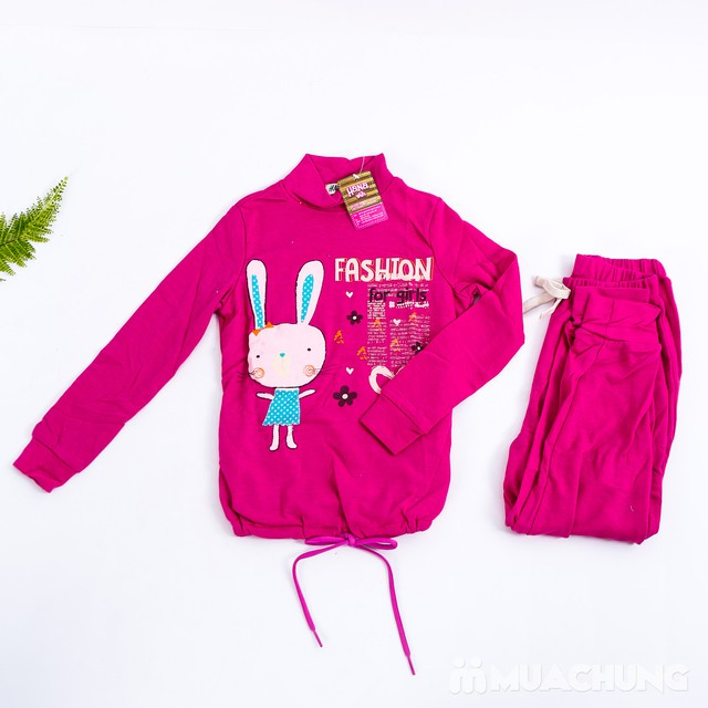 02 bộ quần áo dài tay cổ cao 5 phân ấm áp cho bé - 13