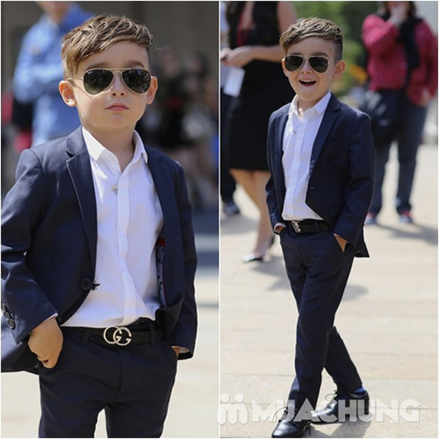 Bộ vest kèm áo gile cho bé trai - 20