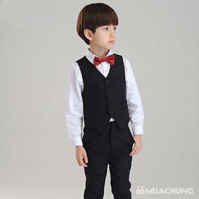 Bộ vest kèm áo gile cho bé trai - 19