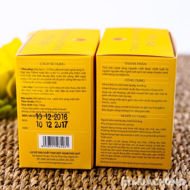 Combo 2 hộp tinh bột nghệ vàng Phủ Quỳ (100g/hộp) - 9