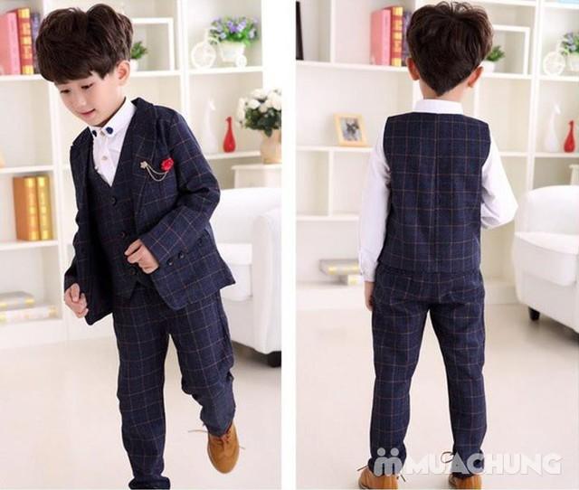 Bộ vest kèm áo gile cho bé trai - 1