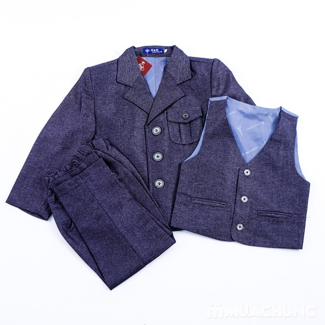 Bộ vest kèm áo gile cho bé trai - 4