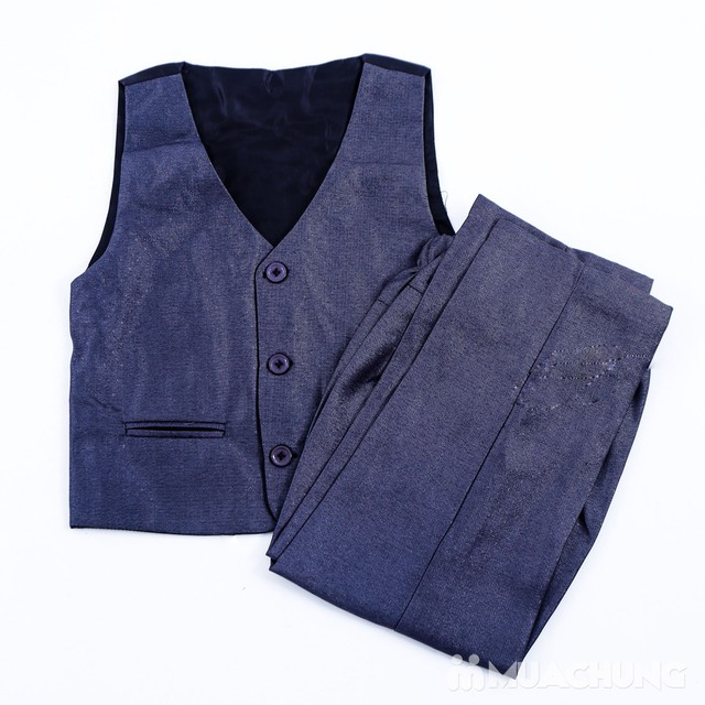 Bộ vest kèm áo gile cho bé trai - 17