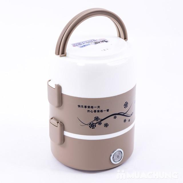 Hộp cơm cắm điện lòng inox 3 ngăn tiện ích - 6
