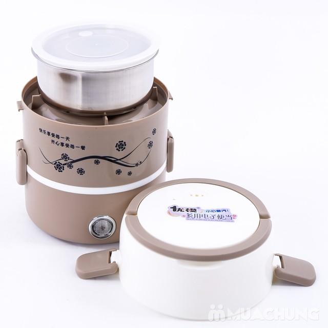 Hộp cơm cắm điện lòng inox 3 ngăn tiện ích - 7