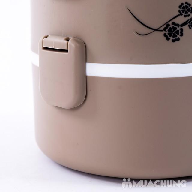 Hộp cơm cắm điện lòng inox 3 ngăn tiện ích - 5