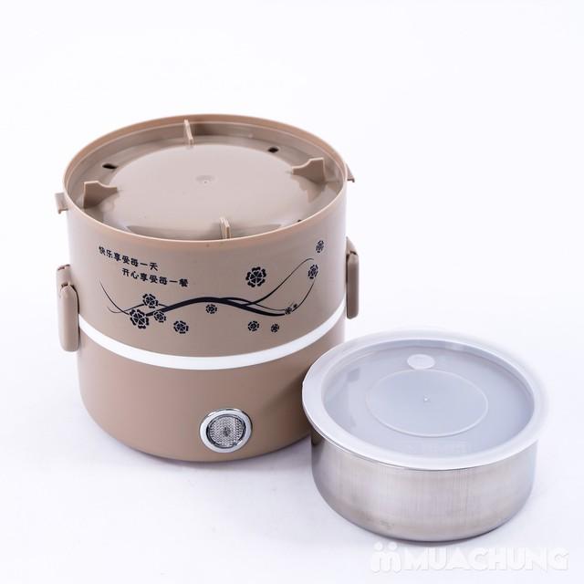 Hộp cơm cắm điện lòng inox 3 ngăn tiện ích - 8