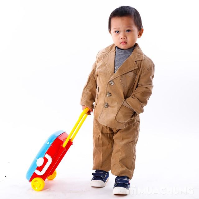 Bộ vest nhung đón Tết cho bé size 1-3 - 2