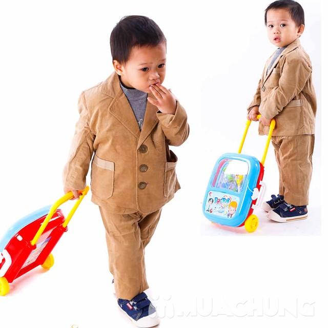 Bộ vest nhung đón Tết cho bé size 1-3 - 4