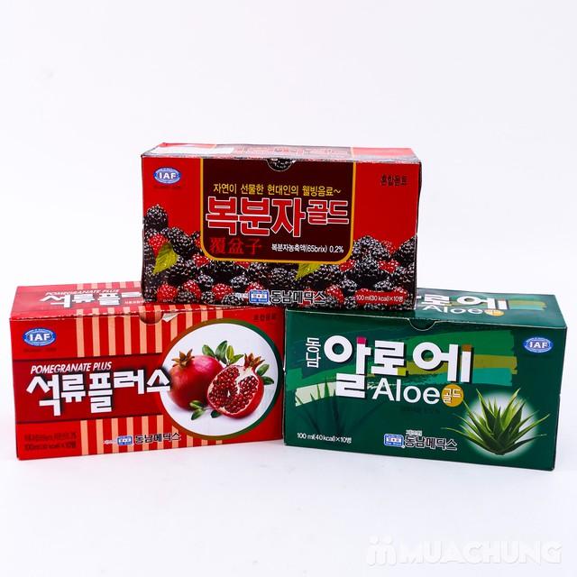 Hộp 10 chai nước hoa quả không ga HQ bổ dưỡng - 1