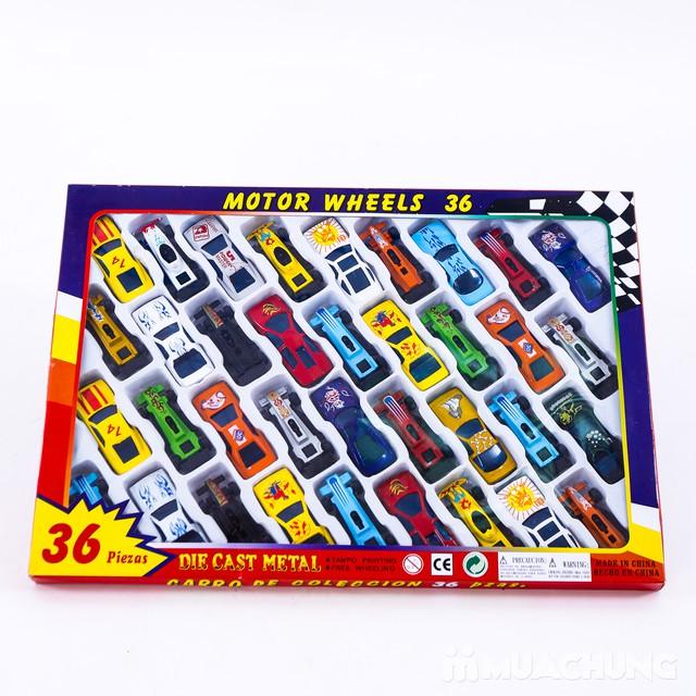 Vỉ 36 ô tô bánh đà - Bộ sưu tập xe của bé - 1