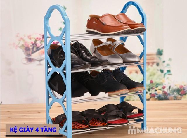 Kệ để giày dép lắp ghép 4 tầng - Cơ động, nhỏ gọn - 1
