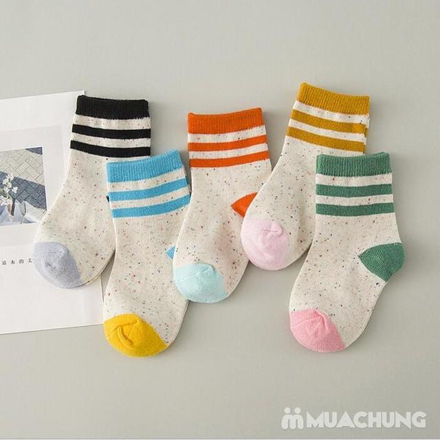 5 đôi tất len cao cổ sắc màu cho bé size 1-10 - 9