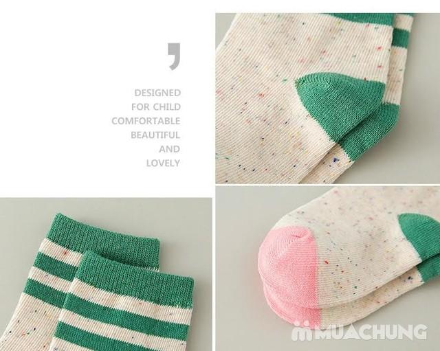 5 đôi tất len cao cổ sắc màu cho bé size 1-10 - 4