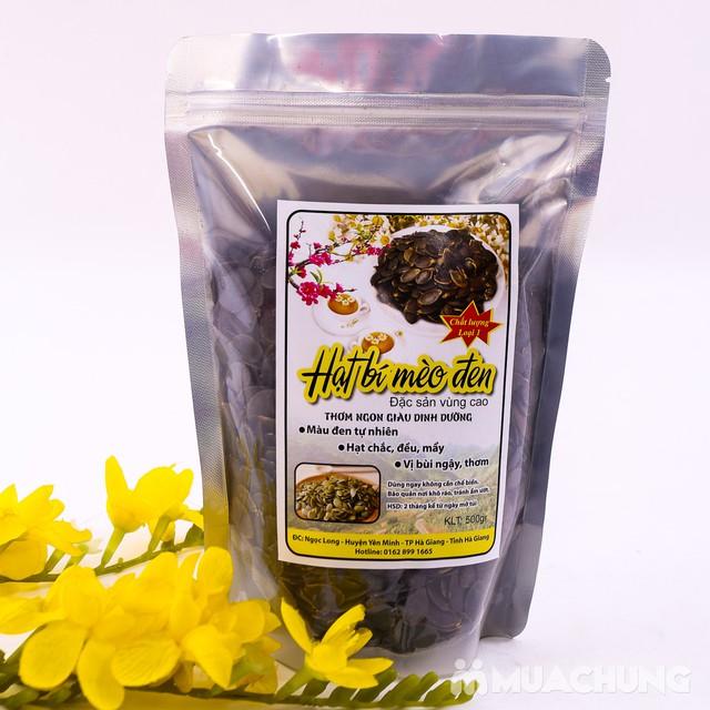 500g hạt bí Mèo đen đặc sản vùng cao loại 1 - 9
