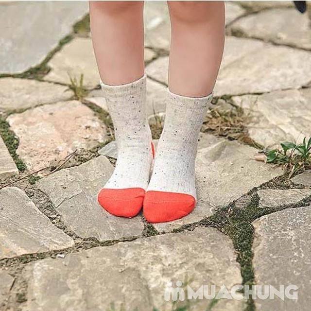 5 đôi tất len cao cổ sắc màu cho bé size 1-10 - 5