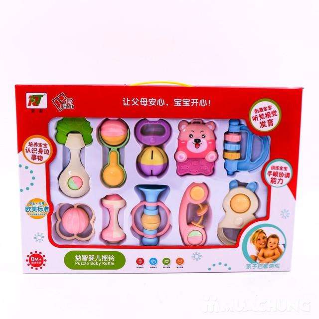 Bộ đồ chơi xúc xắc, lục lạc 10 món cho trẻ sơ sinh - 17