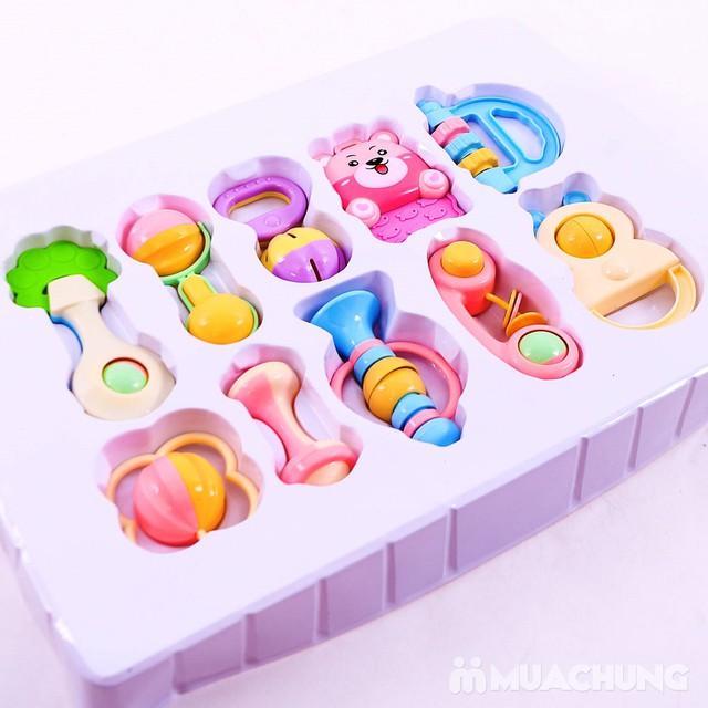Bộ đồ chơi xúc xắc, lục lạc 10 món cho trẻ sơ sinh - 15