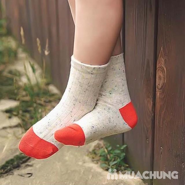 5 đôi tất len cao cổ sắc màu cho bé size 1-10 - 2