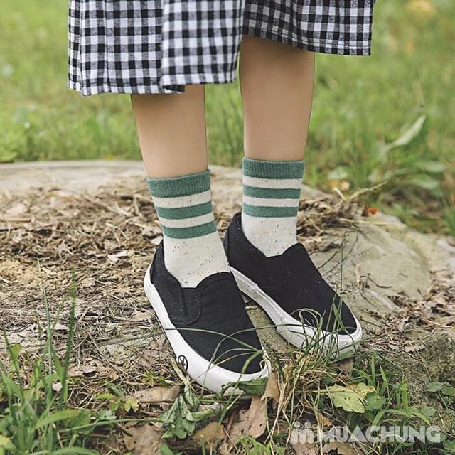 5 đôi tất len cao cổ sắc màu cho bé size 1-10 - 1