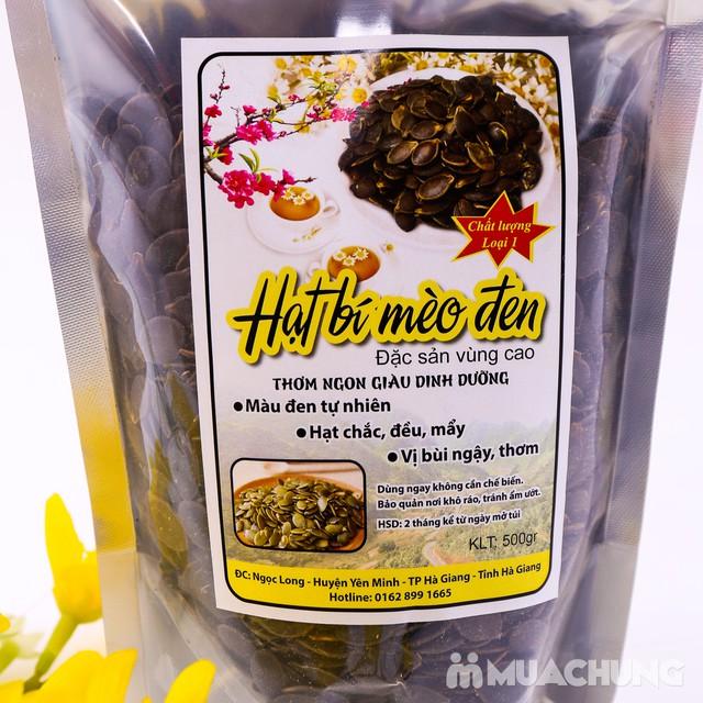 500g hạt bí Mèo đen đặc sản vùng cao loại 1 - 5