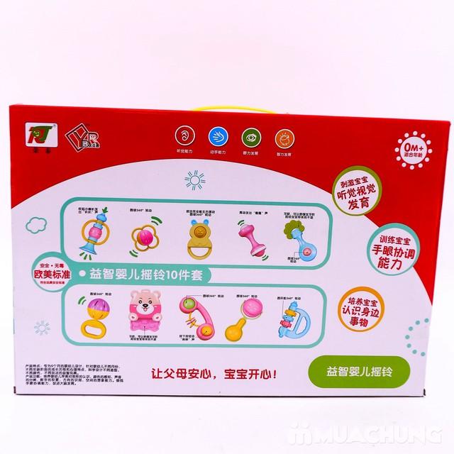 Bộ đồ chơi xúc xắc, lục lạc 10 món cho trẻ sơ sinh - 18