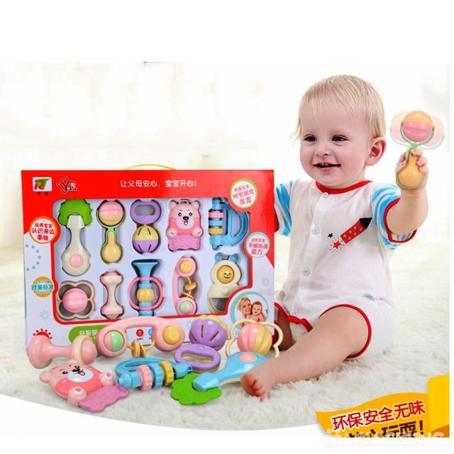 Bộ đồ chơi xúc xắc, lục lạc 10 món cho trẻ sơ sinh - 8