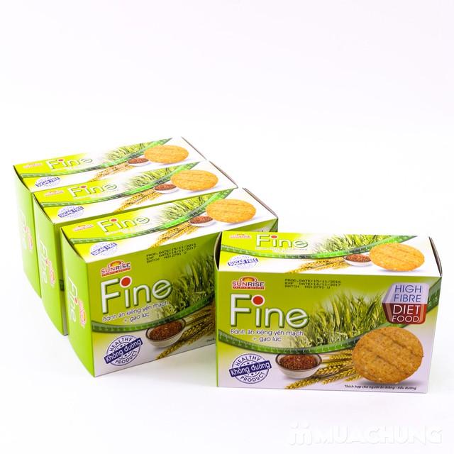 3 hộp bánh Fine ăn kiêng yếm mạch mè đen + gạo lứt - 7