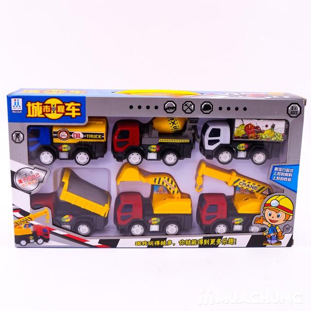 Bộ đồ chơi 6 xe công trình độc đáo cho bé yêu - 12