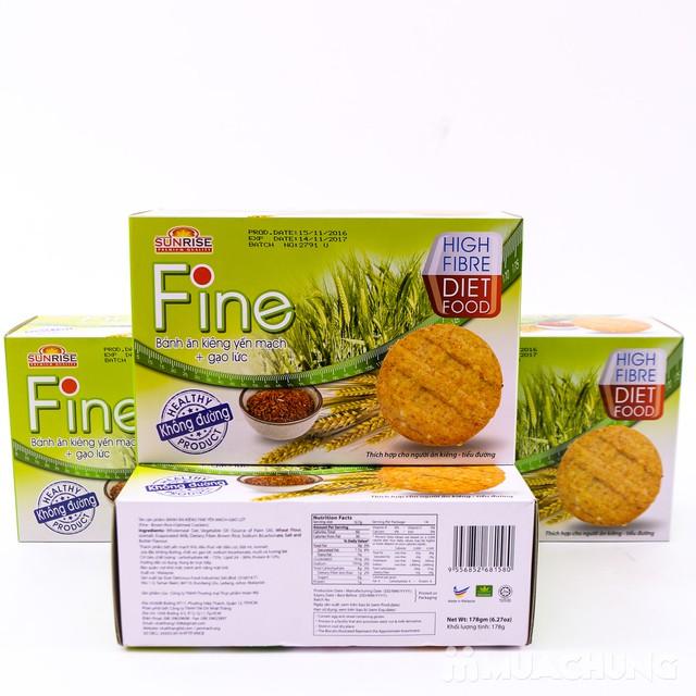 3 hộp bánh Fine ăn kiêng yếm mạch mè đen + gạo lứt - 9