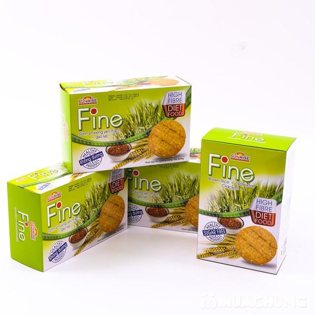 3 hộp bánh Fine ăn kiêng yếm mạch mè đen + gạo lứt - 6