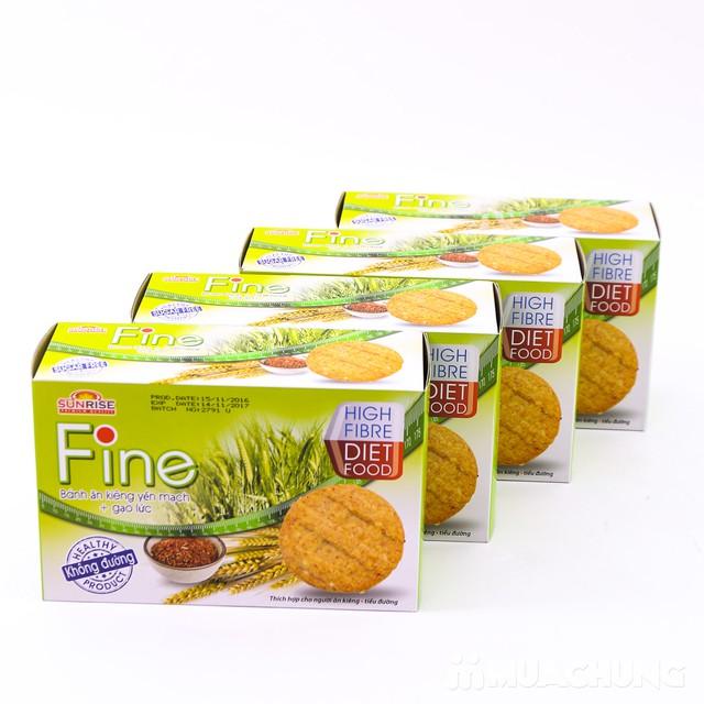 3 hộp bánh Fine ăn kiêng yếm mạch mè đen + gạo lứt - 11