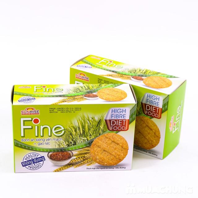 3 hộp bánh Fine ăn kiêng yếm mạch mè đen + gạo lứt - 8