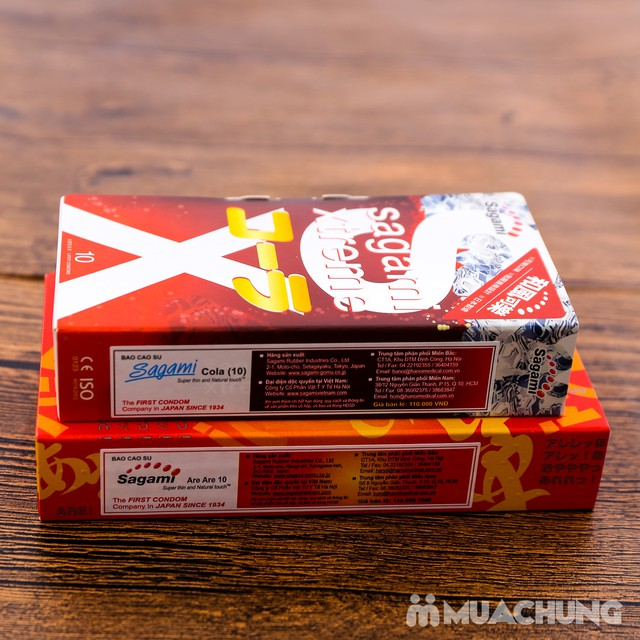 2 hộp bao cao su Sagami Xtreme Cola& Are Are Japan - 13