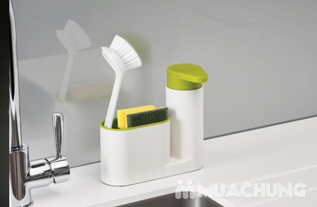 Hộp đựng nước rửa bát + giẻ + bàn chải đa năng - 7