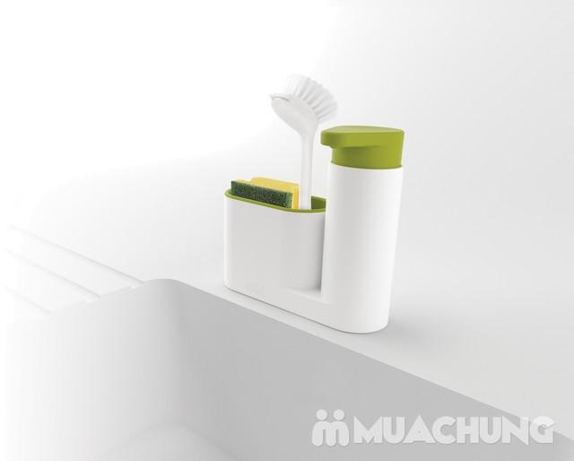 Hộp đựng nước rửa bát + giẻ + bàn chải đa năng - 11