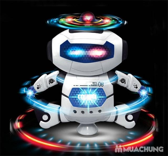 Rô bốt thông minh xoay 360 độ phát sáng, phát nhạc - 1