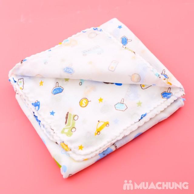 Combo 1 khăn tắm + 10 khăn xô họa tiết cho bé yêu - 9