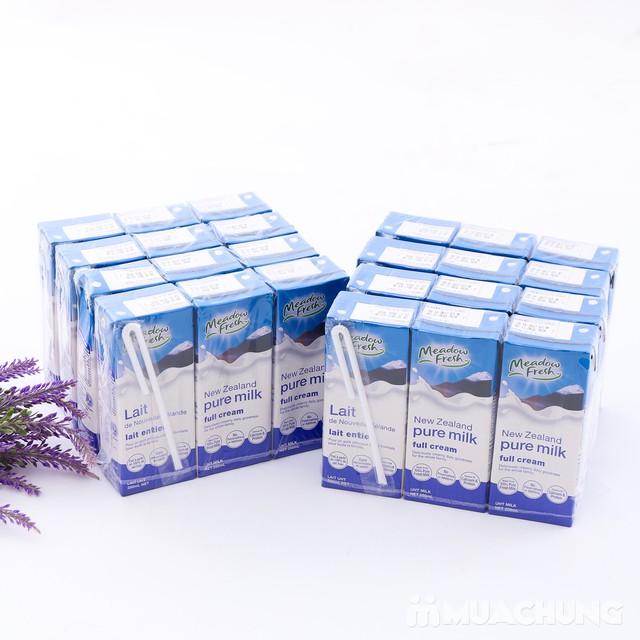 1 thùng (24 hộp) sữa tươi Meadow Fresh nguyên kem - 2