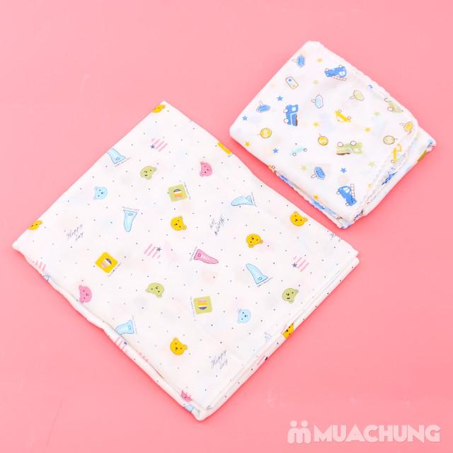 Combo 1 khăn tắm + 10 khăn xô họa tiết cho bé yêu - 10