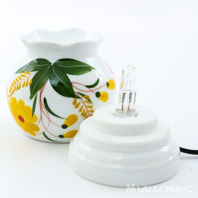 Đèn xông tinh dầu cắm điện loại nhỡ- sứ Bát Tràng - 8